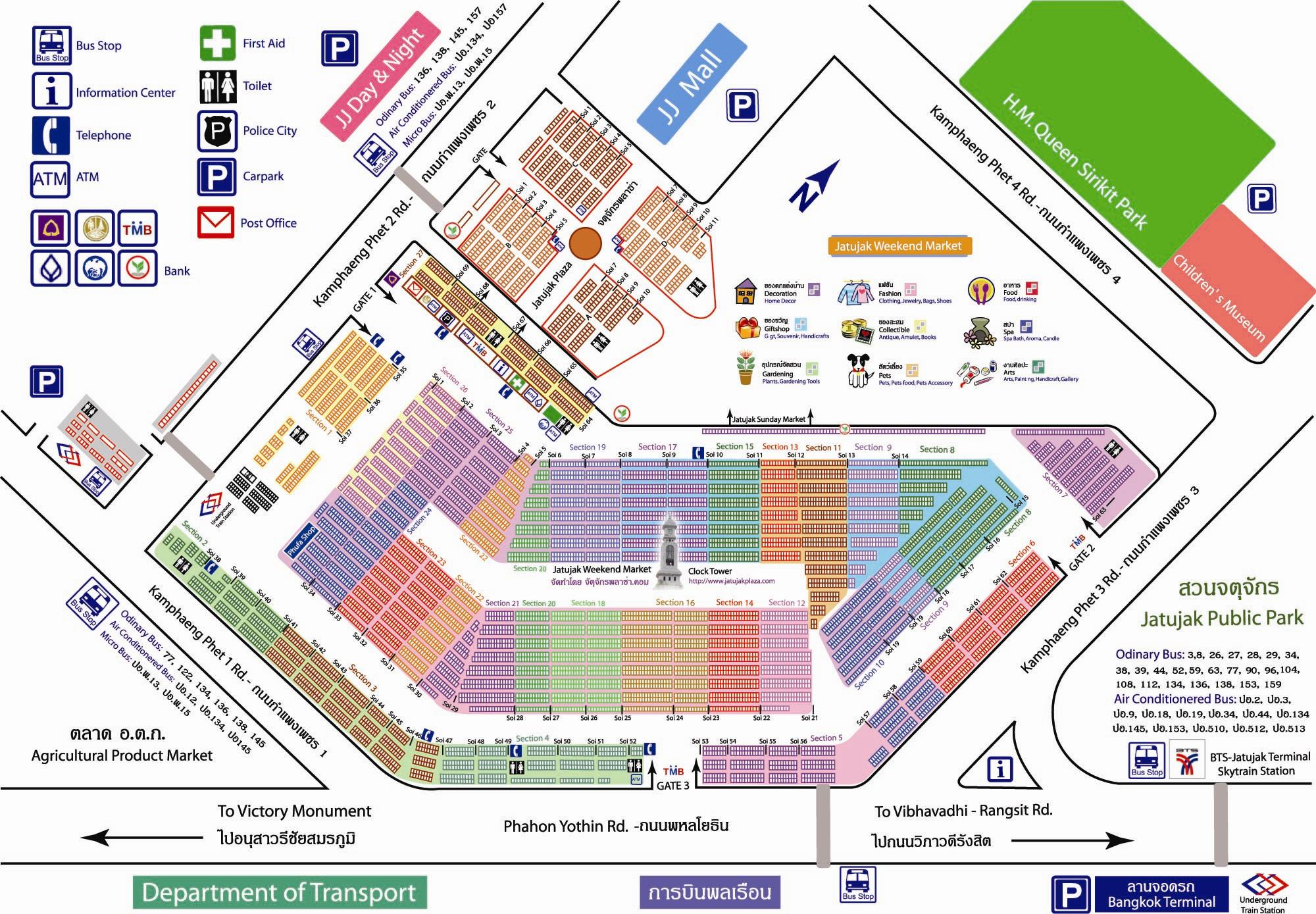 Chatuchak Market layout